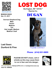 112117 Dugan Germ Shepherd Senior deaf